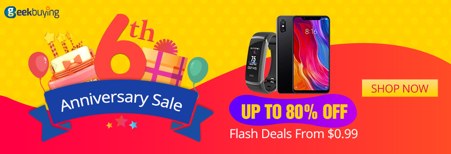 Geekbuying's 6th Anniversary Sale: up to 70% off huge offers Xiaomi Mi Mix 2S giveaway 9